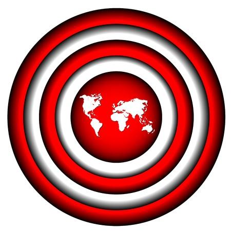 Ilustración de The big round purpose with the world - Imagen libre de derechos