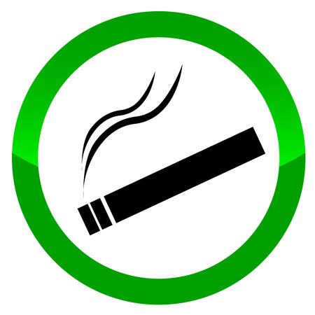 Illustration pour The sign smoking area. Vector illustration on white background - image libre de droit