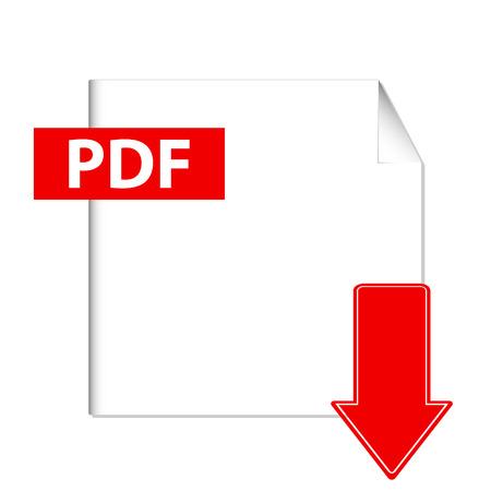 Illustration pour Vector pdf download button on a white background - image libre de droit