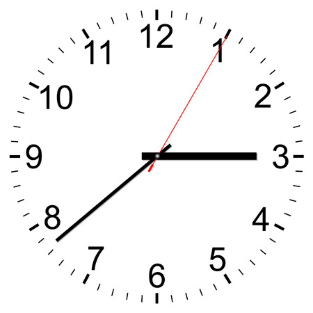 Illustration pour Clock vector icon on a white background - image libre de droit