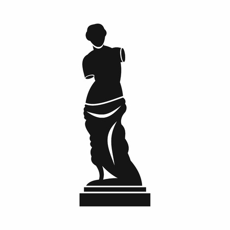 Illustration pour Ancient statue icon in simple style isolated on white background. Art symbol - image libre de droit