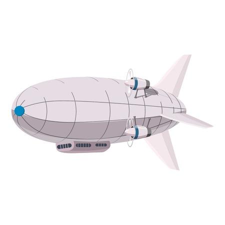 Illustration pour Airship icon. Cartoon illustration of airship vector icon for web design - image libre de droit