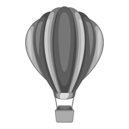 Illustration pour Round balloon icon in monochrome style isolated on white background vector illustration - image libre de droit