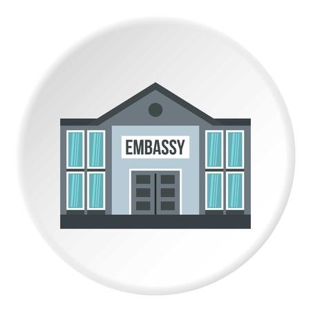 Photo pour Embassy icon circle - image libre de droit