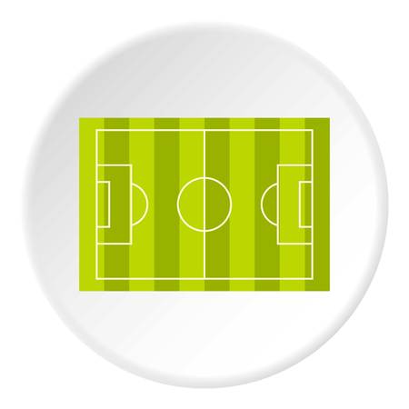 Football or soccer field icon in flat circle isolated vector illustration for web