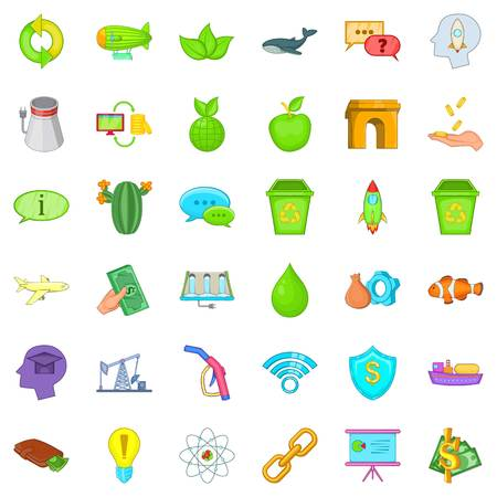 Illustration pour Eco care icons set. Cartoon style of 36 eco care vector icons for web isolated on white background - image libre de droit