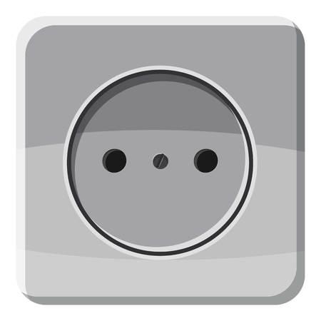 Ilustración de Electric outlet icon, cartoon style - Imagen libre de derechos