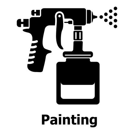 Illustration pour Spray gun icon. Simple illustration of spray gun vector icon for web - image libre de droit