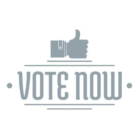 Illustration pour Vote now logo. Simple illustration of vote now vector logo for web - image libre de droit