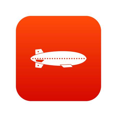 Illustration pour Dirigible balloon icon digital red for any design isolated on white vector illustration - image libre de droit