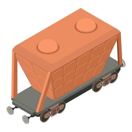 Illustration pour Wagon transport icon, isometric 3d style - image libre de droit