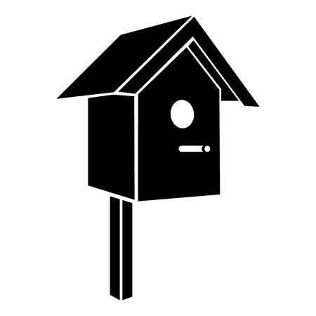 Ilustración de Birdhouse icon. Simple illustration of birdhouse vector icon for web - Imagen libre de derechos