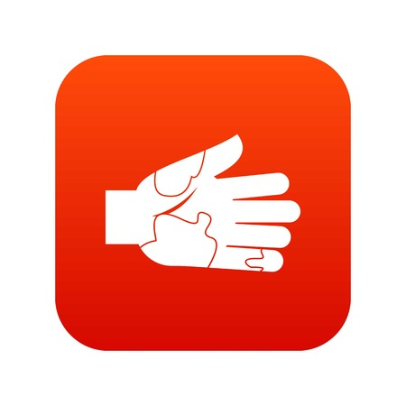 Ilustración de Hand with stains icon digital red for any design isolated on white vector illustration - Imagen libre de derechos
