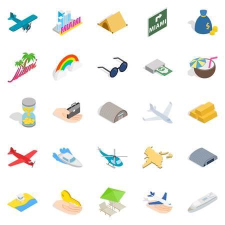 Illustration pour Aeronautic icons set. Isometric set of 25 aeronautic vector icons for web isolated on white background - image libre de droit