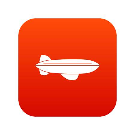 Illustration pour Blimp aircraft flying icon digital red for any design isolated on white vector illustration - image libre de droit