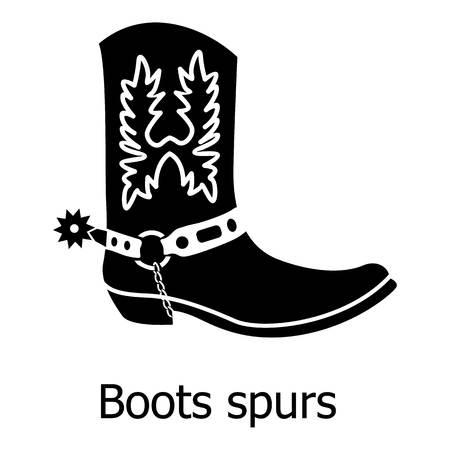 Ilustración de Boot spurs icon, simple black style Vector illustration. - Imagen libre de derechos