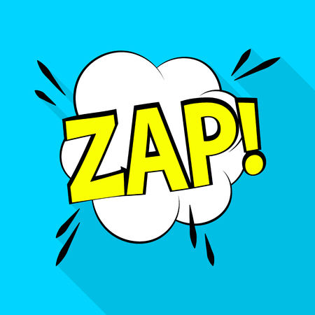 Ilustración de Zap icon. Pop art illustration of zap vector icon for web - Imagen libre de derechos