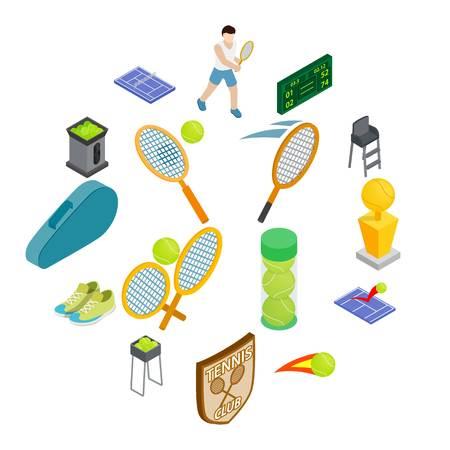 Ilustración de Tennis icons set - Imagen libre de derechos