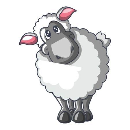 Ilustración de Sheep cartoon style icon - Imagen libre de derechos