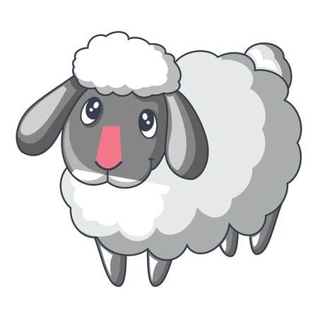 Ilustración de Cute sad sheep icon, cartoon style - Imagen libre de derechos