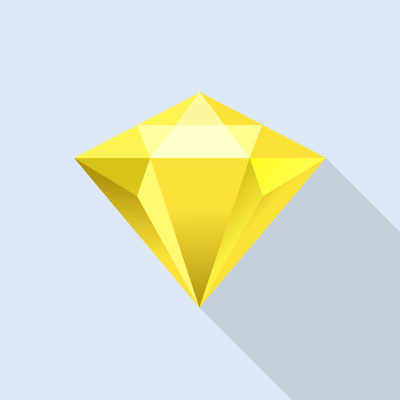 Illustration pour Diamond citrine icon, flat style - image libre de droit