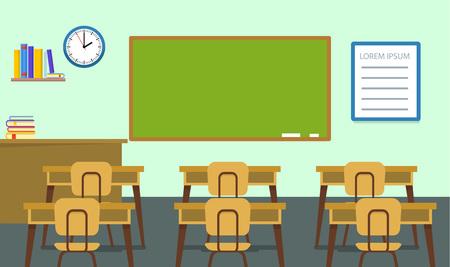 Illustration pour Empty classroom background, flat style - image libre de droit