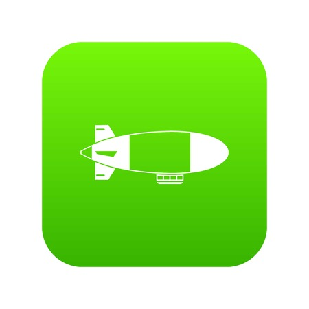 Illustration pour Aerostat airship icon digital green for any design isolated on white vector illustration - image libre de droit