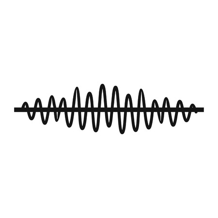 Photo for Sound wave icon in simple style on a white background illustration - Royalty Free Image