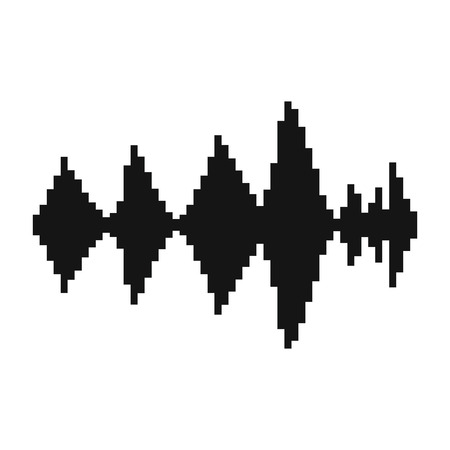 Photo for Audio digital equalizer technology icon in simple style on a white background illustration - Royalty Free Image