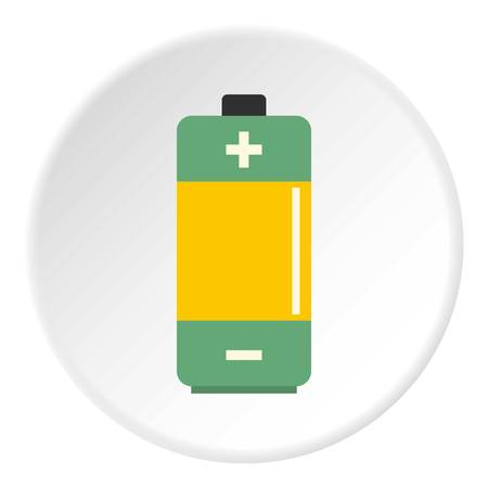 Photo for AA Alkaline battery icon circle - Royalty Free Image