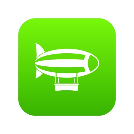 Illustration pour Striped dirigible icon digital green for any design isolated on white vector illustration - image libre de droit