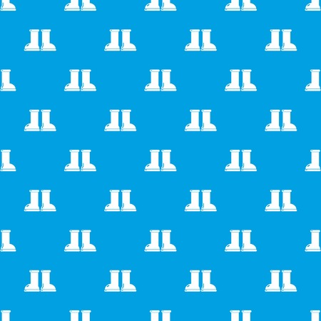 Ilustración de Rubber garden boots pattern vector seamless blue repeat for any use - Imagen libre de derechos