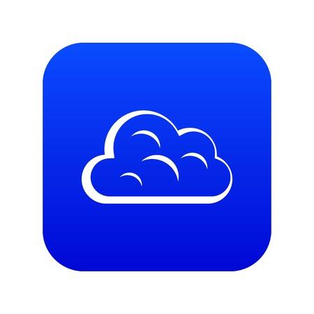 Illustration pour Big cloud icon digital blue - image libre de droit