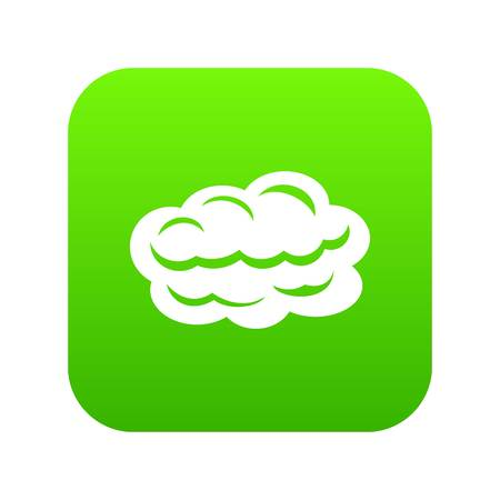Illustration pour Technology cloud icon green vector isolated on white background - image libre de droit