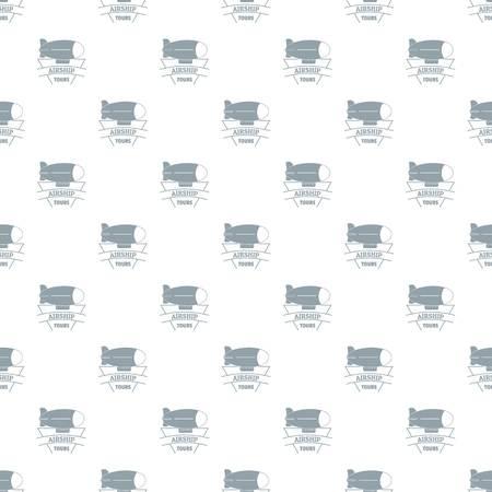 Illustration pour Sky dirigible pattern vector seamless - image libre de droit
