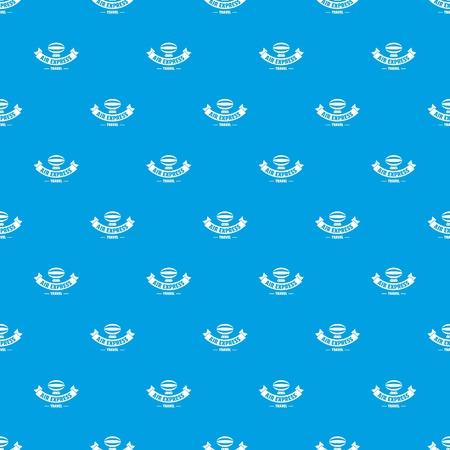 Illustration pour Tourism dirigible pattern vector seamless blue - image libre de droit