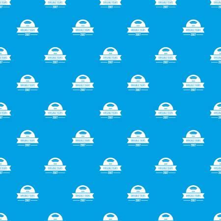 Illustration pour Retro dirigible pattern vector seamless blue - image libre de droit