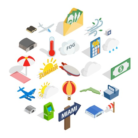 Illustration pour Air force icons set. Isometric set of 25 air force vector icons for web isolated on white background - image libre de droit