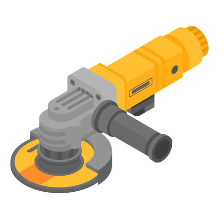 Illustration for Modern angle grinder icon, isometric style - Royalty Free Image