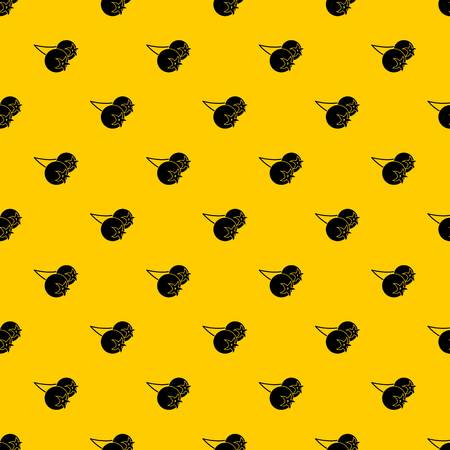 Ilustración de Chokeberry or aronia berry pattern seamless vector repeat geometric yellow for any design - Imagen libre de derechos