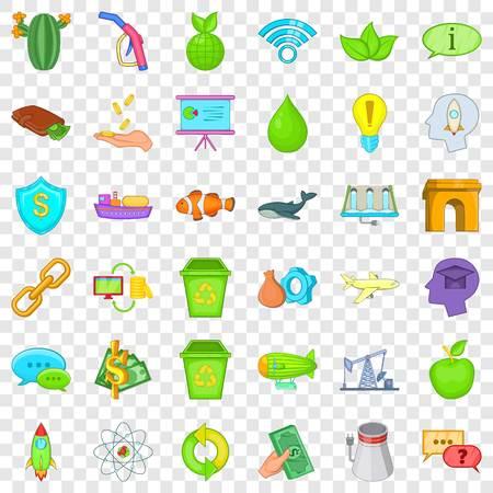 Illustration pour Eco care icons set, cartoon style - image libre de droit