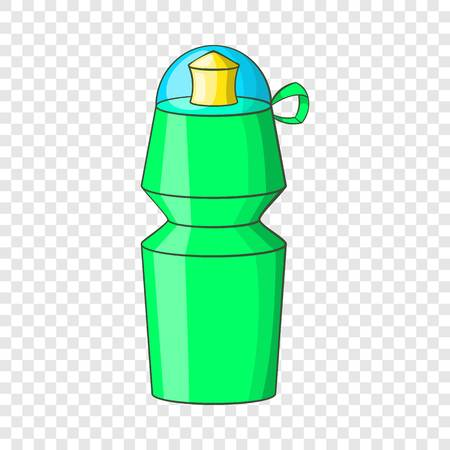 Sports water bottle icon in cartoon style isolated on background for any web design