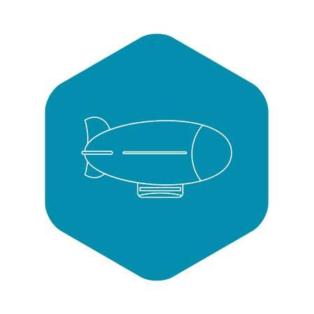 Illustration pour Vintage airship icon. Outline illustration of vintage airship vector icon for web - image libre de droit