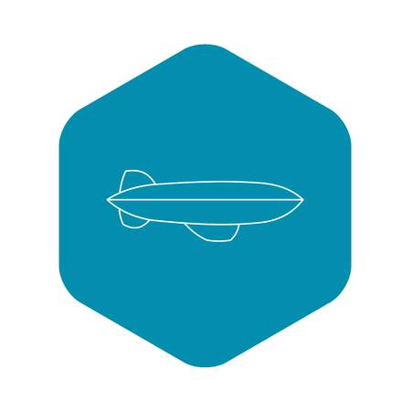 Illustration pour Dirigible icon. Outline illustration of dirigible vector icon for web - image libre de droit