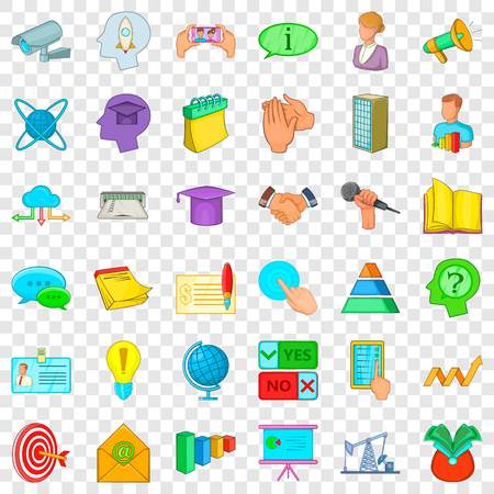 Illustration pour Session icons set. Cartoon style of 36 session vector icons for web for any design - image libre de droit