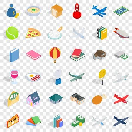 Illustration pour Variety icons set, isometric style - image libre de droit