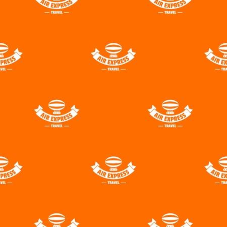 Illustration pour Tourism dirigible pattern vector orange - image libre de droit