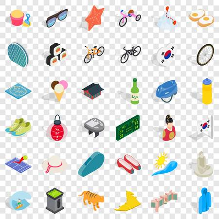 Illustration pour Clothing icons set, isometric style - image libre de droit