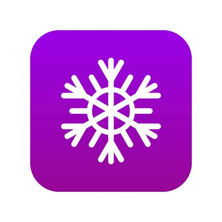 Illustration pour Snowflake icon digital purple - image libre de droit