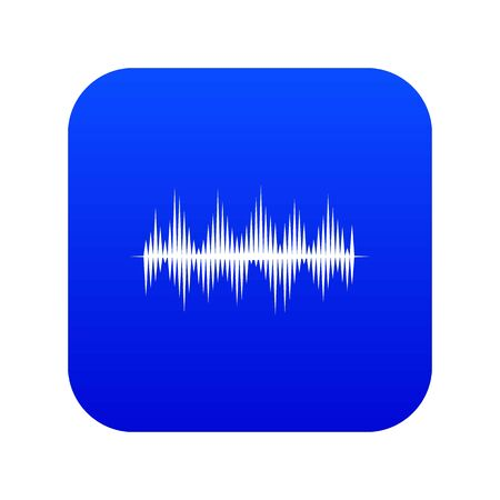 Photo for Audio digital equalizer technology icon digital blue for any design isolated on white illustration - Royalty Free Image